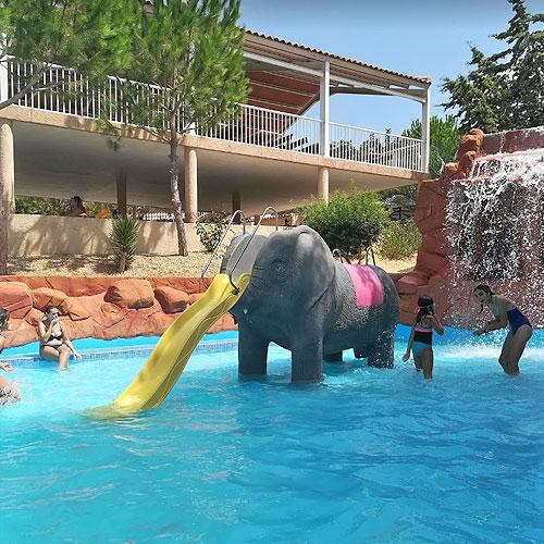 <p>«Амазония»<p>Детская зона с бассейном глубиной 1 м и горками в виде фигур разных животных