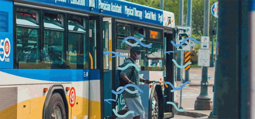 Очистка воздуха от COVID в автобусах