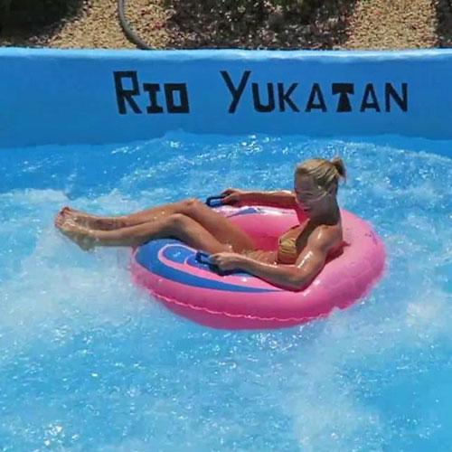 <p>«Река Юкатан»<p> Аттракцион с имитацией спуска по горной реке, кататься нужно на специальной подушке