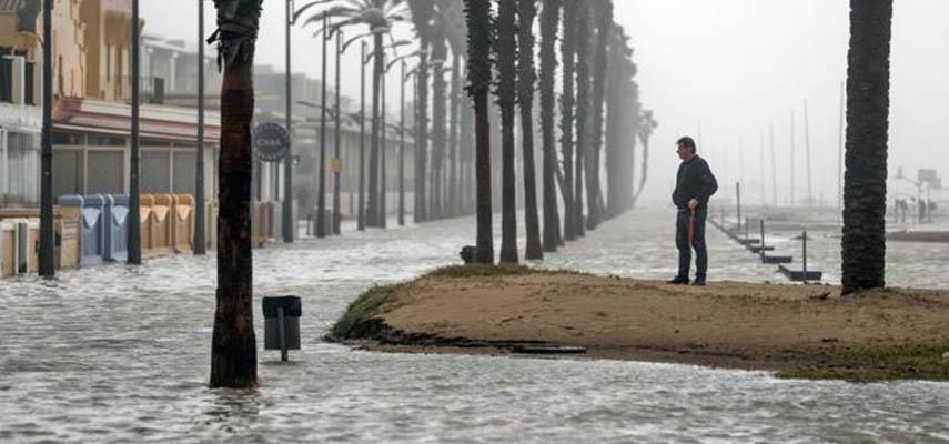 Валенсия понесла сильный ущерб из-за проливных дождей