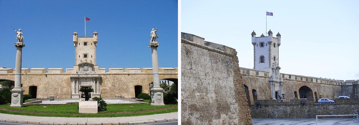 Башни Пуэрта-де-Тьерра в Кадисе