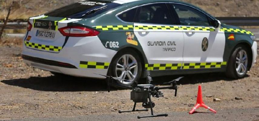 Испанские дороги патрулируют 39 дронов DGT