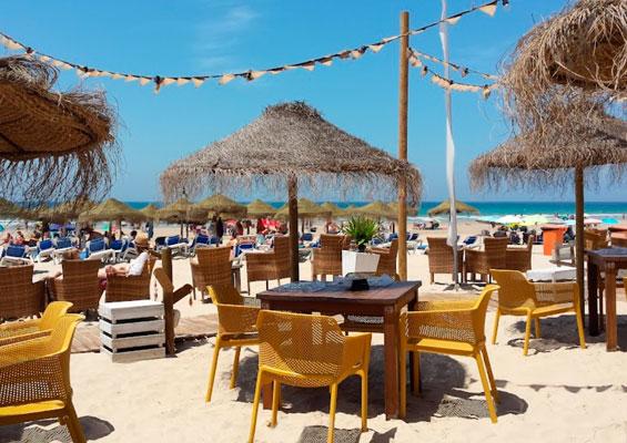 Места для отдыха на пляже Кортадура
