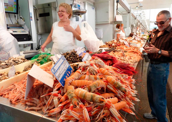 Морепродукты на рынке «Абастос»