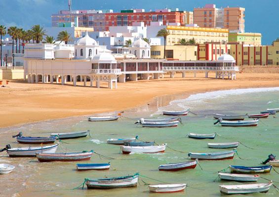 Вид на пляж Ла Калета