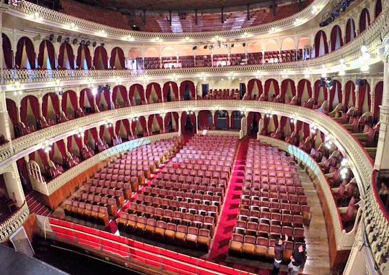 Вид со сцены Большого театра имени Фальи
