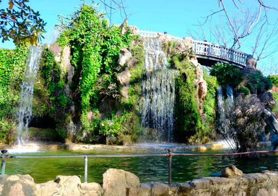Водопад в парке Аламеда Аподака