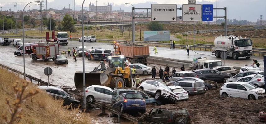 Из-за сильных дождей в Испании произошли разрушительные наводнения