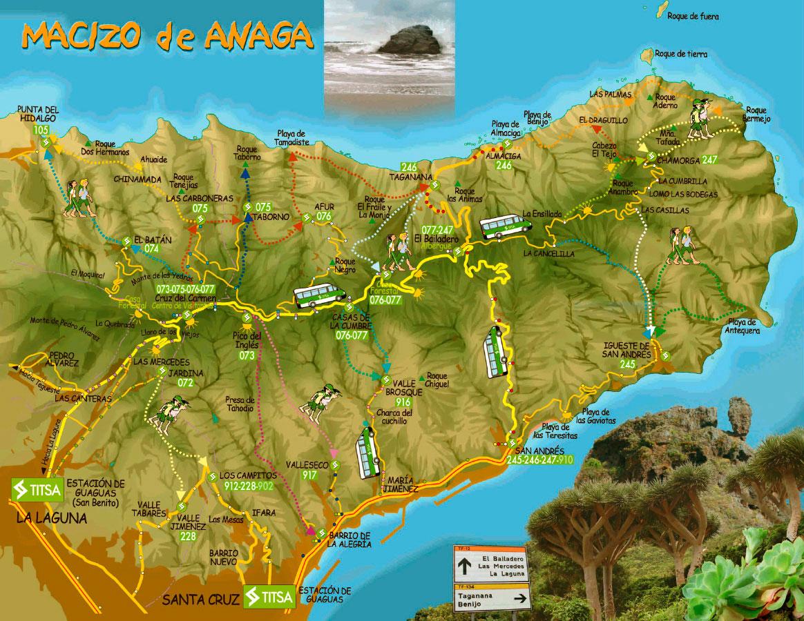 Карта Анаги