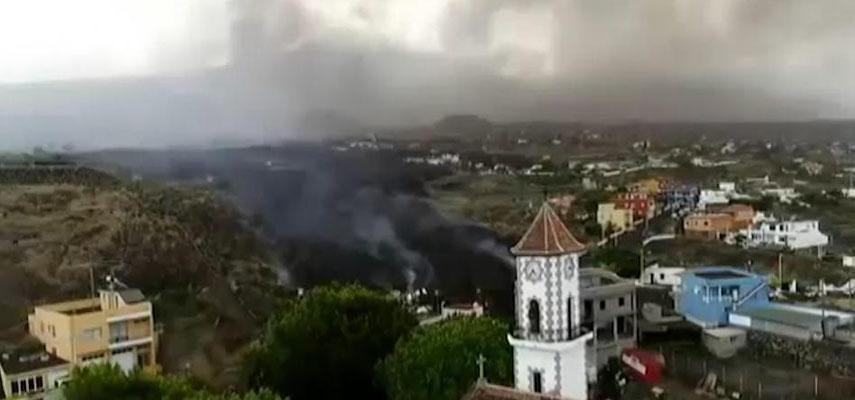 Потоки лавы из вулкана на Ла-Пальма достигли Тодоке