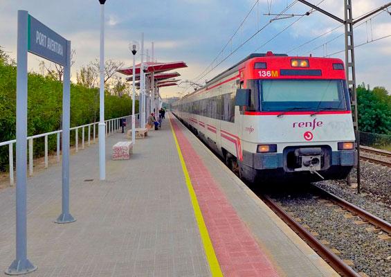 На поезде в PortAventura Park
