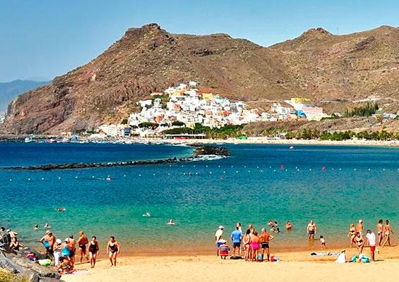 Отдыхающие на пляже Тереситас