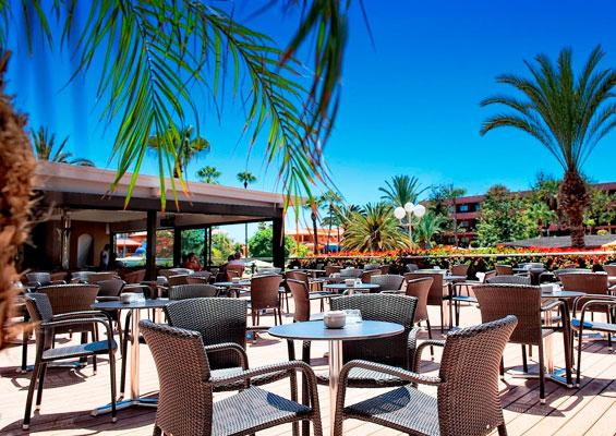 Ресторан под открытым небом в гостинице Spring Hotel Bitacora
