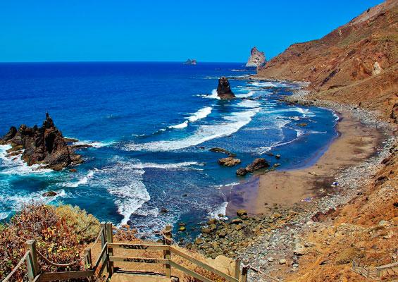 Вид на пляж Бенихо