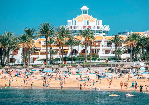 Вид на пляж Эль Камисон