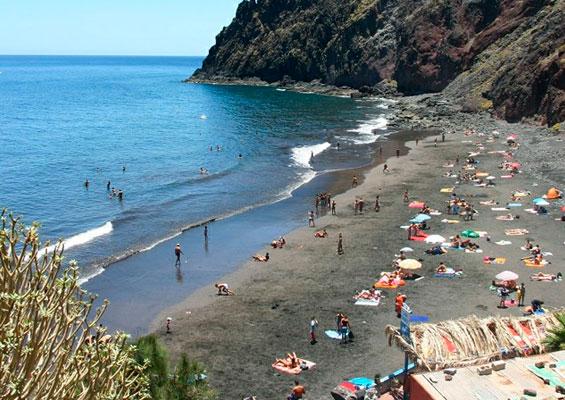 Вид на пляж Лас Гавиотас