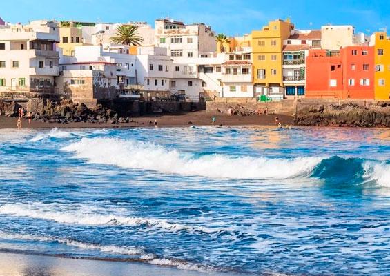 Вид на пляж Сан Тельмо