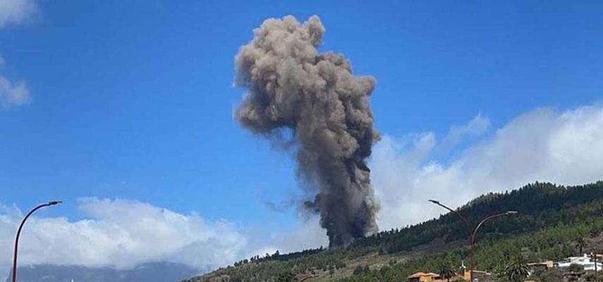 На острове Ла-Пальма извергается вулкан, проводится эвакуация людей