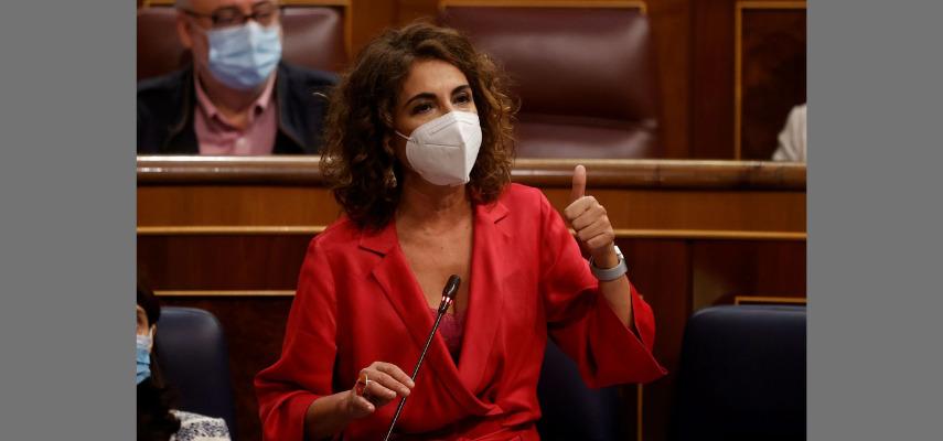 Министр финансов Мария Хесус Монтеро на прошлой неделе в Конгрессе