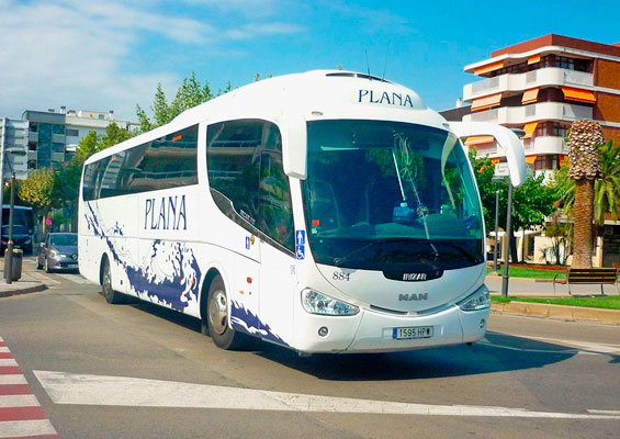 Из Барселоны до Port Aventure на автобусе Plana