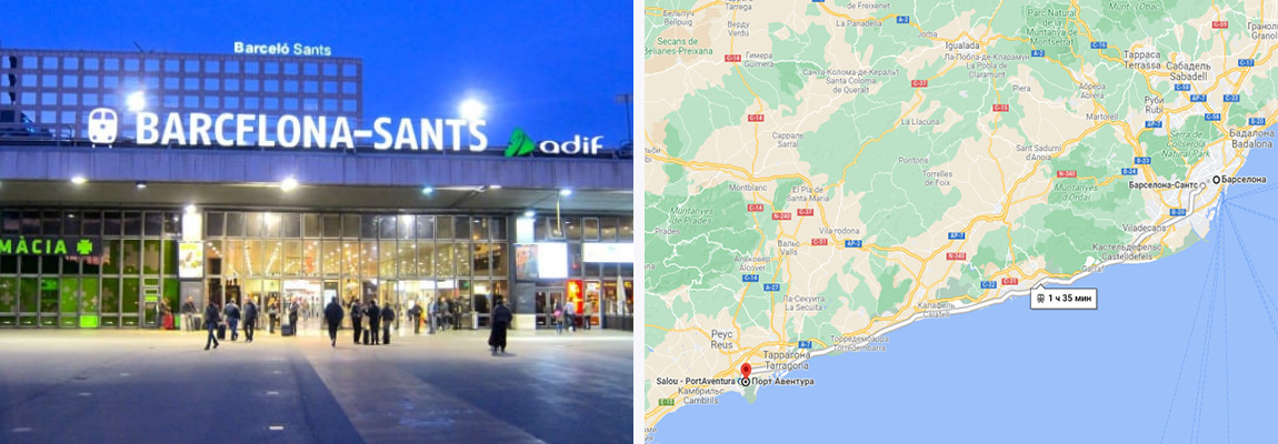 Как добраться из Барселоны до Port Aventura на поезде