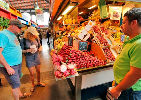 На рынке Mercado Central de Atarazanas