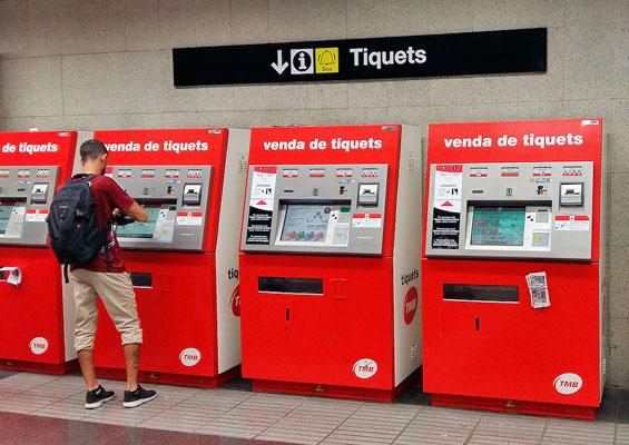 Покупка билета в автомате жд вокзала барселоны