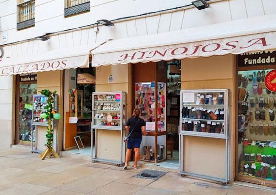 Вид на обувной магазин Hinojosa